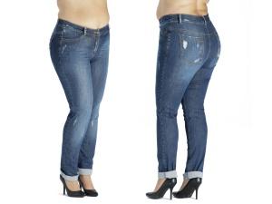0d1cb72e6467 Spodnie jeansowe z dziurami i przetarciami PLUS SIZE