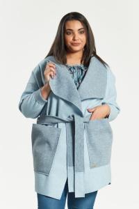 Błękitny płaszcz kardigan Klara duże rozmiary dla puszystych PLUS SIZE  WIOSNA 7448a42e2e