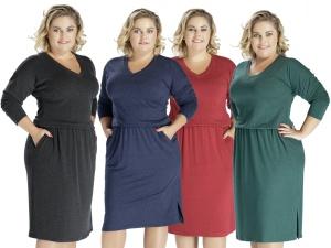 Sukienka midi krótka z kieszeniami 520247a4ca