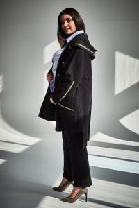 e943e3f5b8ba Spodnie wysoki stan czarne duże rozmiary OVERSIZE PLUS SIZE WIOSNA