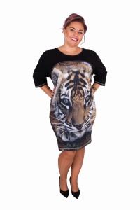 960c563f57 Dresowa tunika z nadrukiem tygrys tiger oversize NOWOŚĆ