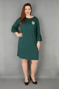 Elegancka sukienka rękaw falbanka suże rozmiary dla puszystych fcb7c32ffd