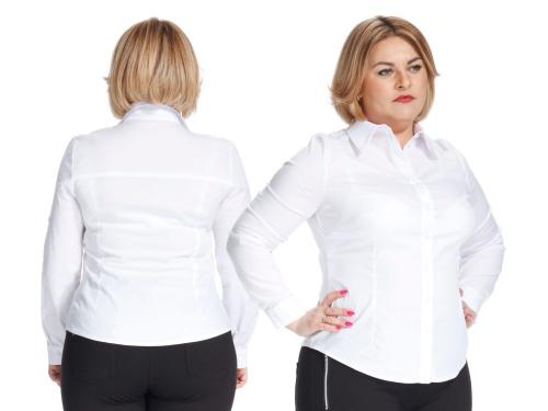 81f3db35bc Elegancka biała koszula bluzka z kołnierzykiem PLUS SIZE NOWOŚĆ WIOSNA 2017