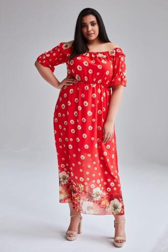 3754fbca Szyfonowa sukienka Alma MAXI duże rozmiary OVERSIZE PLUS SIZE