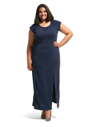 0c15f474 Granatowa sukienka Pola duże rozmiary OVERSIZE PLUS SIZE lato