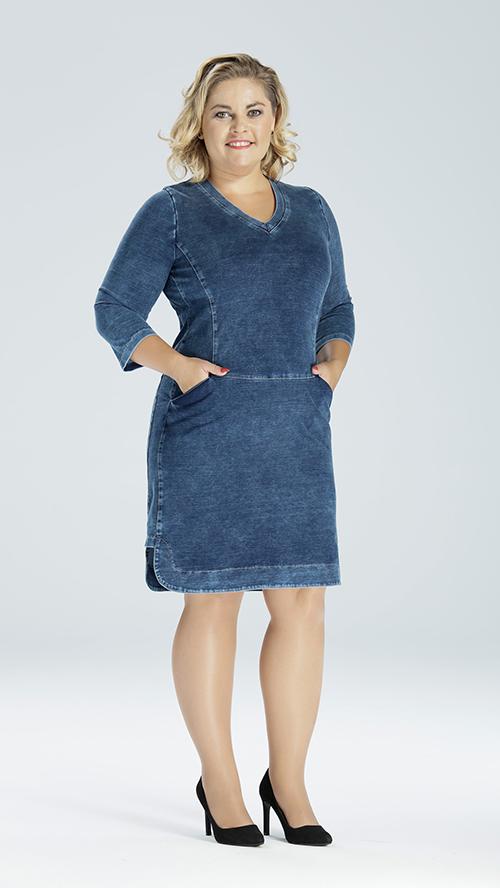 9d664ecafc Sukienki dżinsowe. Duże rozmiary XXL – moda dla puszystych