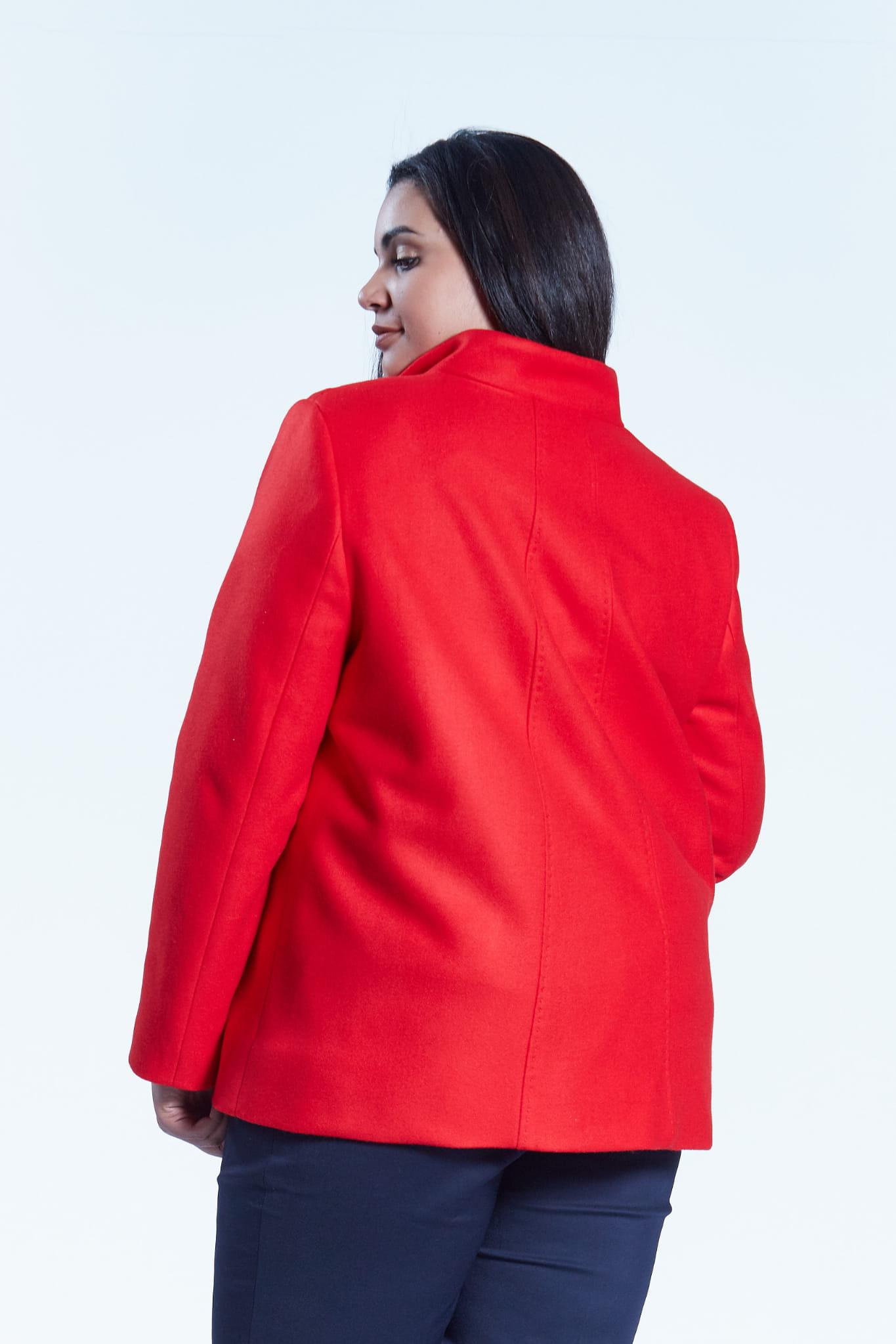 Czerwona elegancka kurtka płaszcz Vera OVERSIZE PLUS SIZE WIOSNA